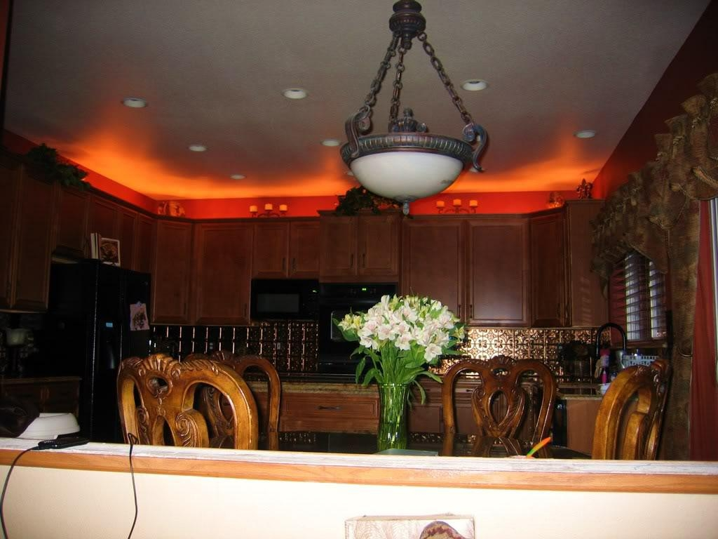 Rope Lights Above Kitchen Cabinets