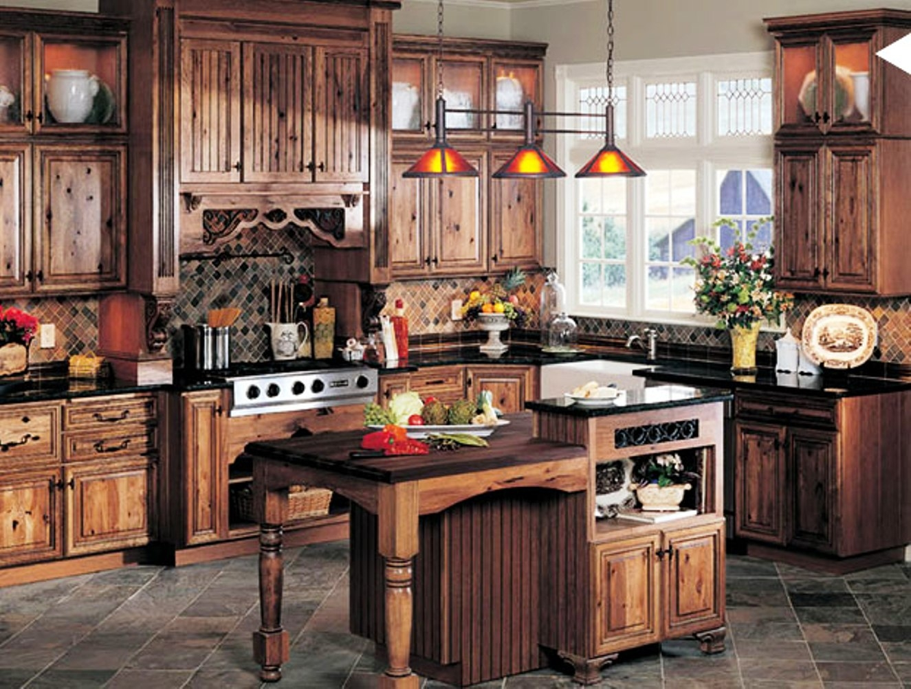 Rustic Ideas For Above Kitchen Cabinets