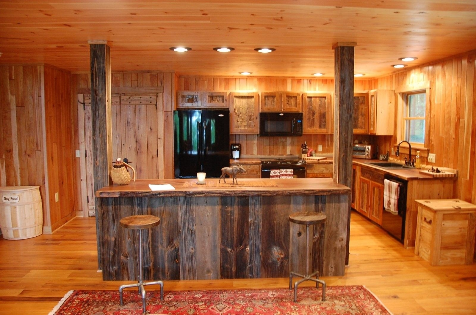 Rustic Reclaimed Wood Kitchen Cabinets