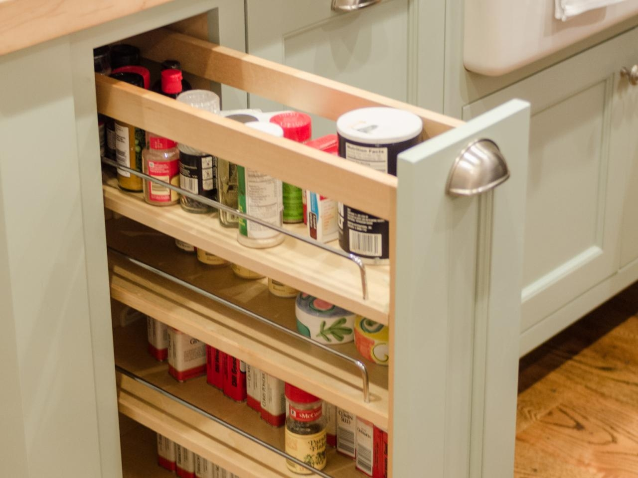 Spice Racks For Kitchen Cabinets Pull Out
