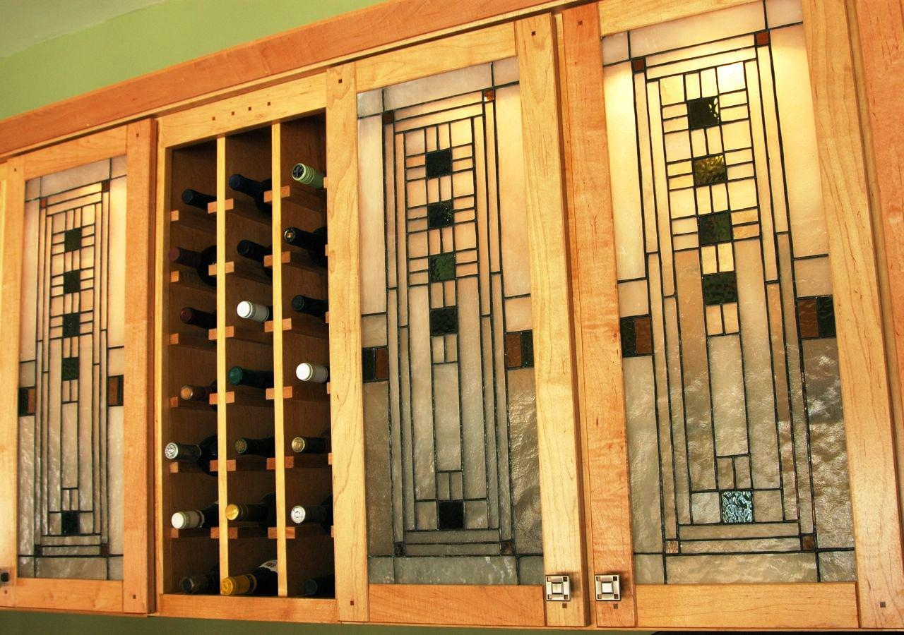 Stained Glass Cabinet Doors Kitchen