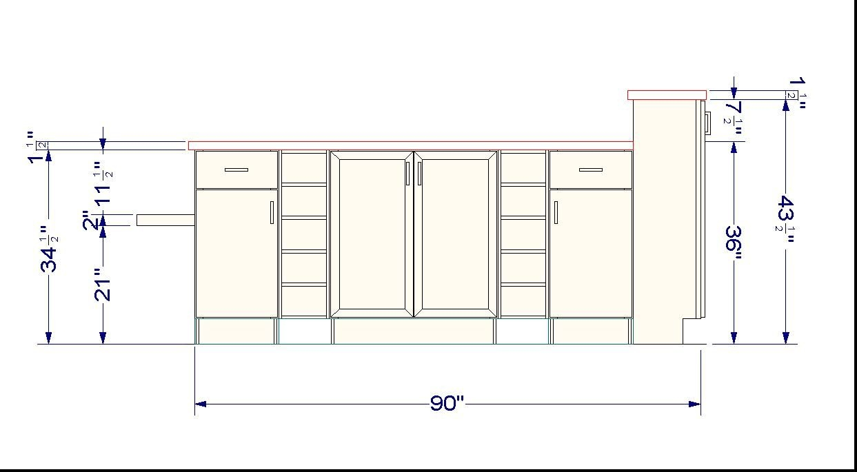Standard High For Kitchen Cabinets