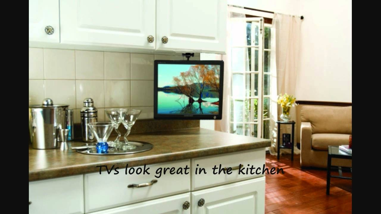 Tv Under Kitchen Cabinet