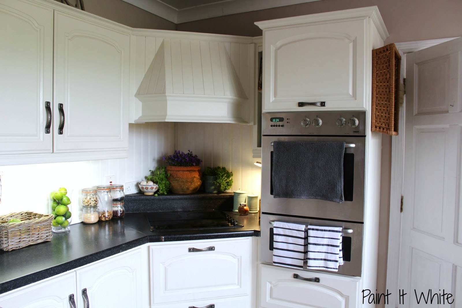 Update Plain White Kitchen Cabinets