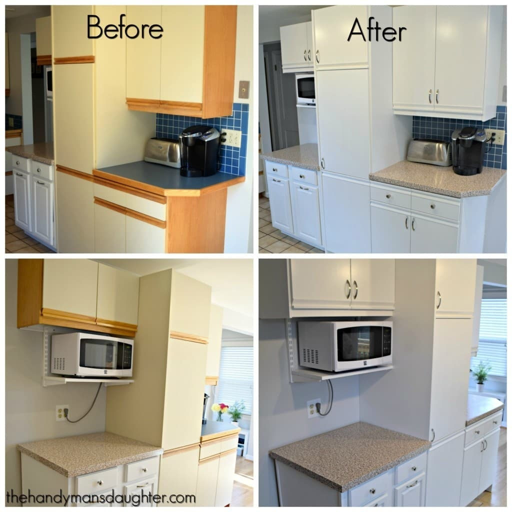 Updating Kitchen Cabinets With Trim