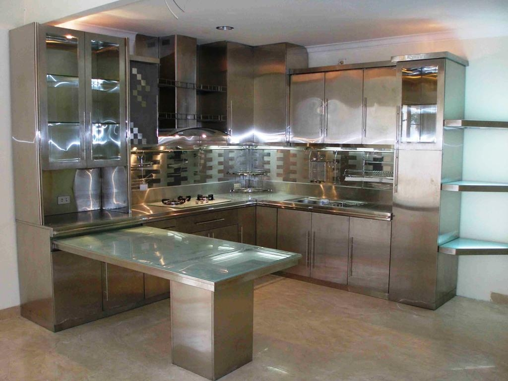Vintage Stainless Steel Kitchen Cabinets