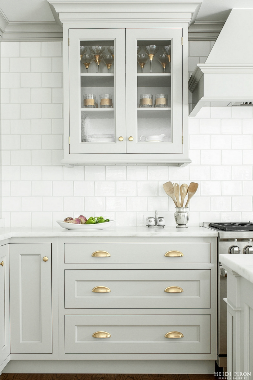 White Kitchen Cabinets Gold Hardwarelook we love gray kitchen cabinets with brass hardware gray