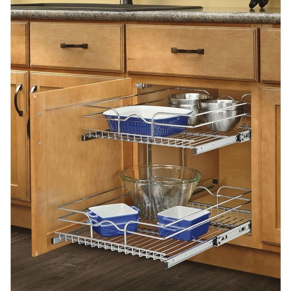 Wicker Pull Out Baskets Kitchen Cabinets