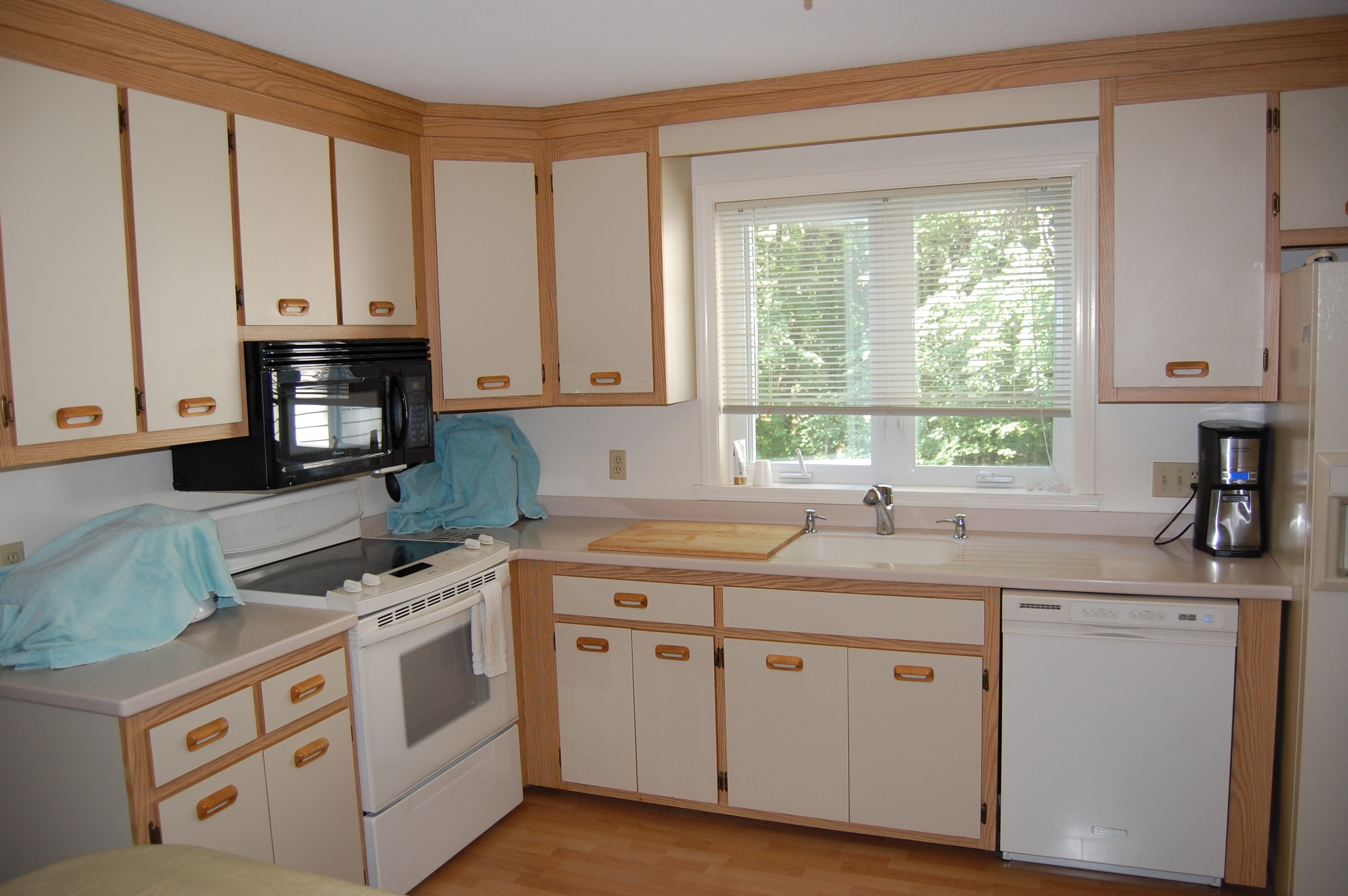 Wood Kitchen Cabinets With White Doors
