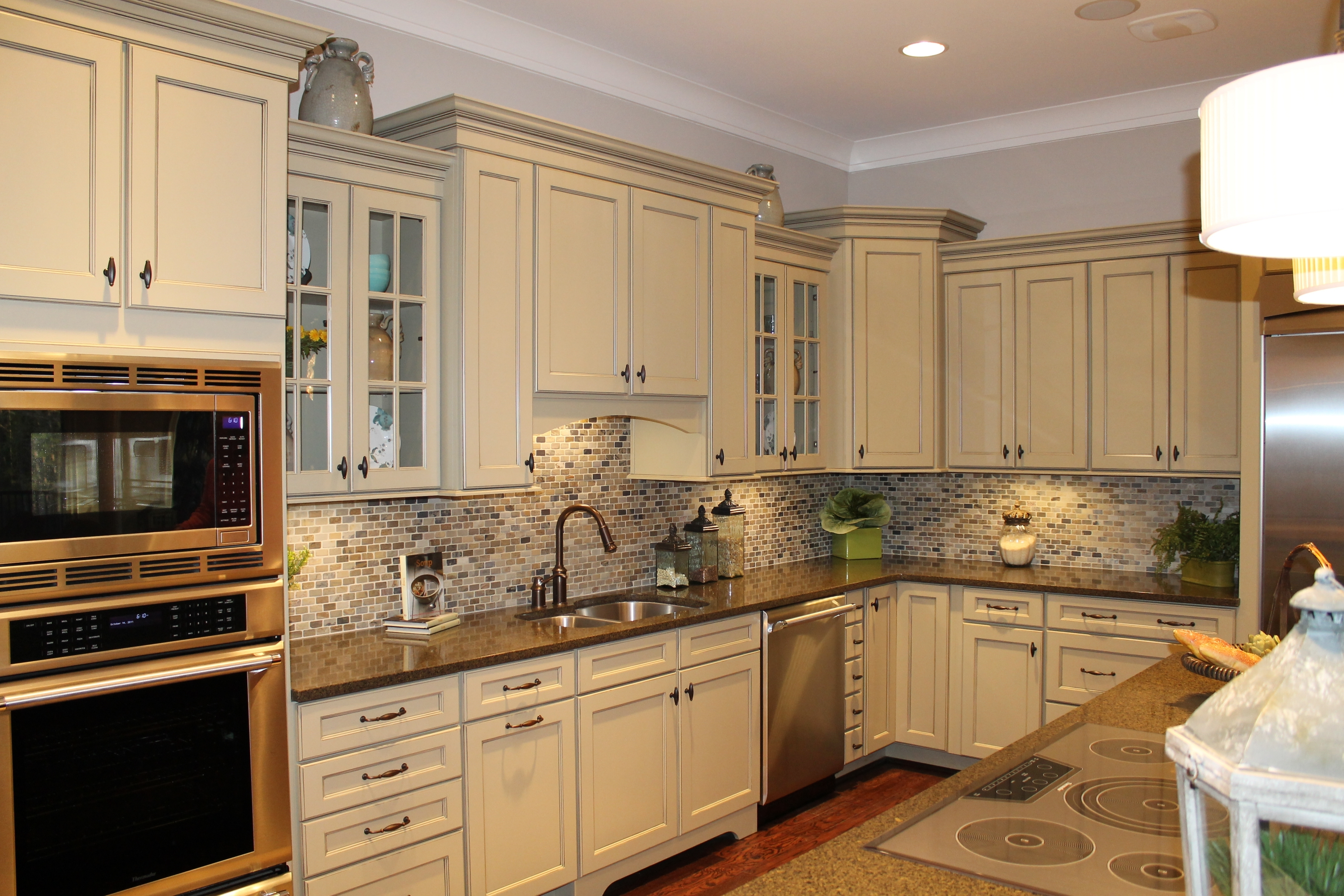 Accessible Beige Kitchen Cabinets