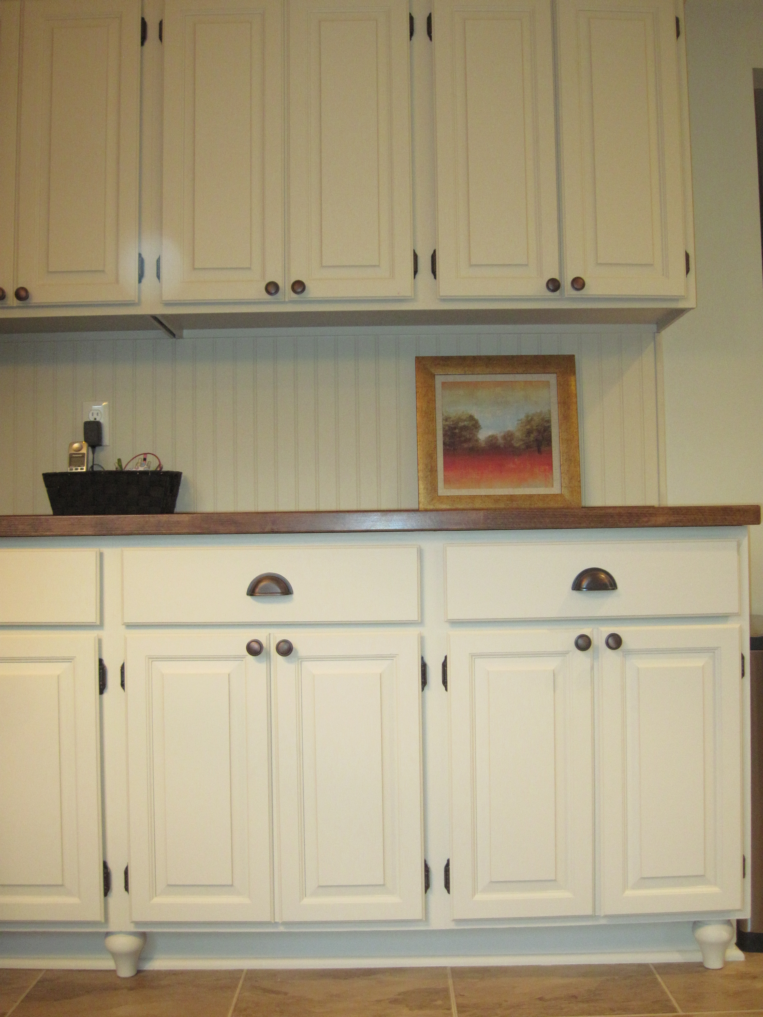 Adding Beadboard To Kitchen Cabinets