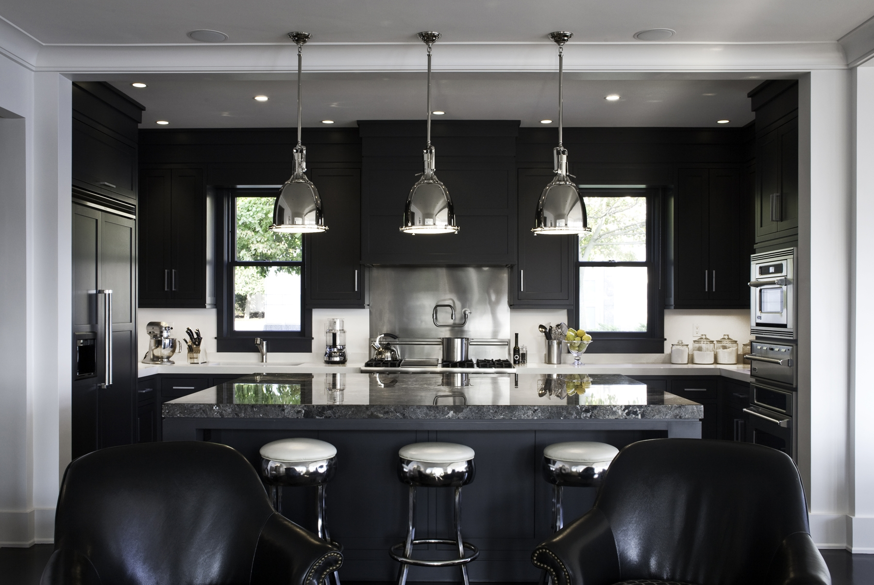 Permalink to Black Cabinet Kitchen Images