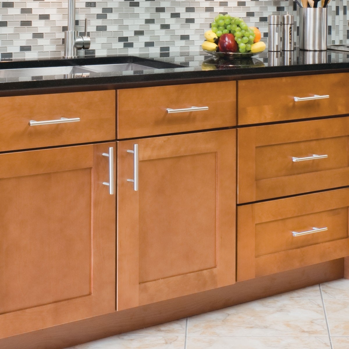 Brushed Stainless Kitchen Cabinet Handles