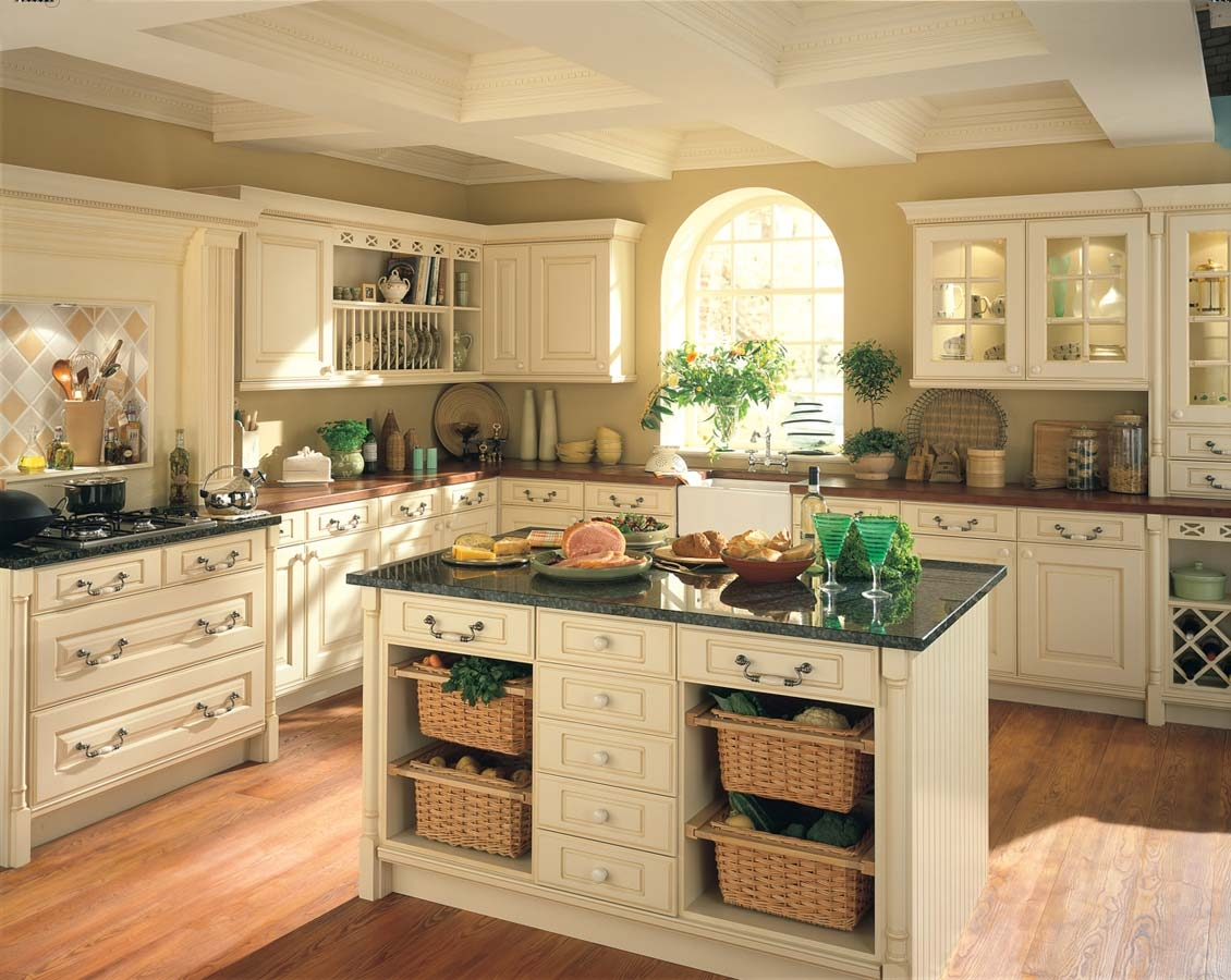 Country Style Kitchen Cabinets Ideas
