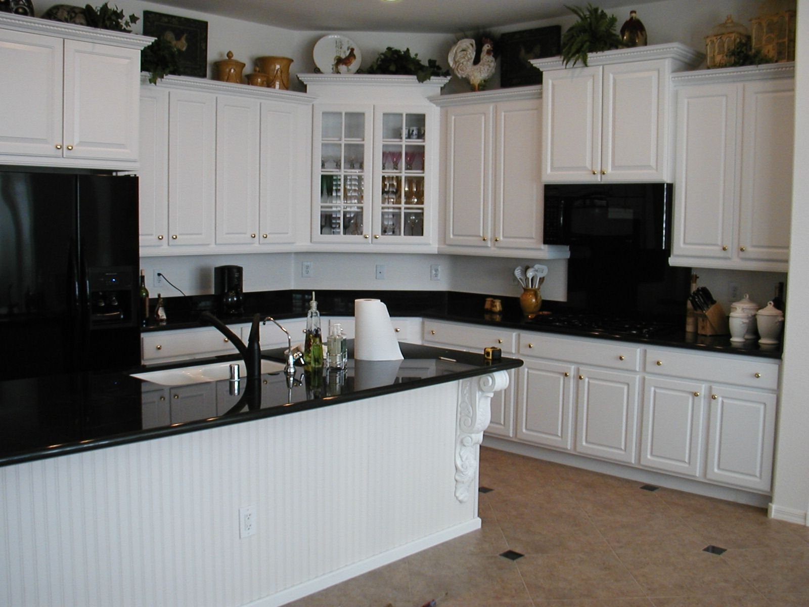 Dark Kitchen Countertops With White Cabinetswhite cabinet and beadboard island kitchen backsplash ideas for