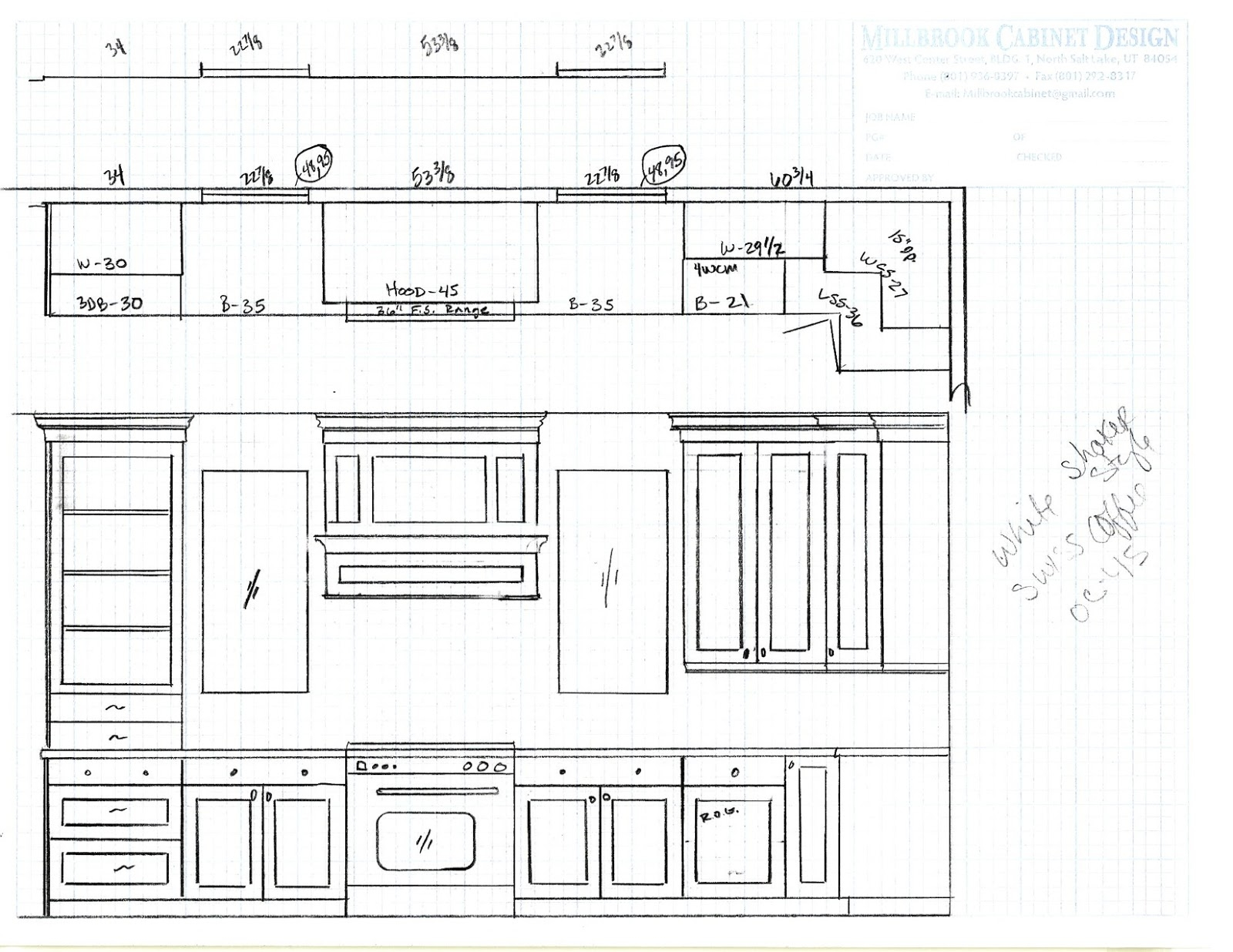 Drawing Plans For Kitchen Cabinets