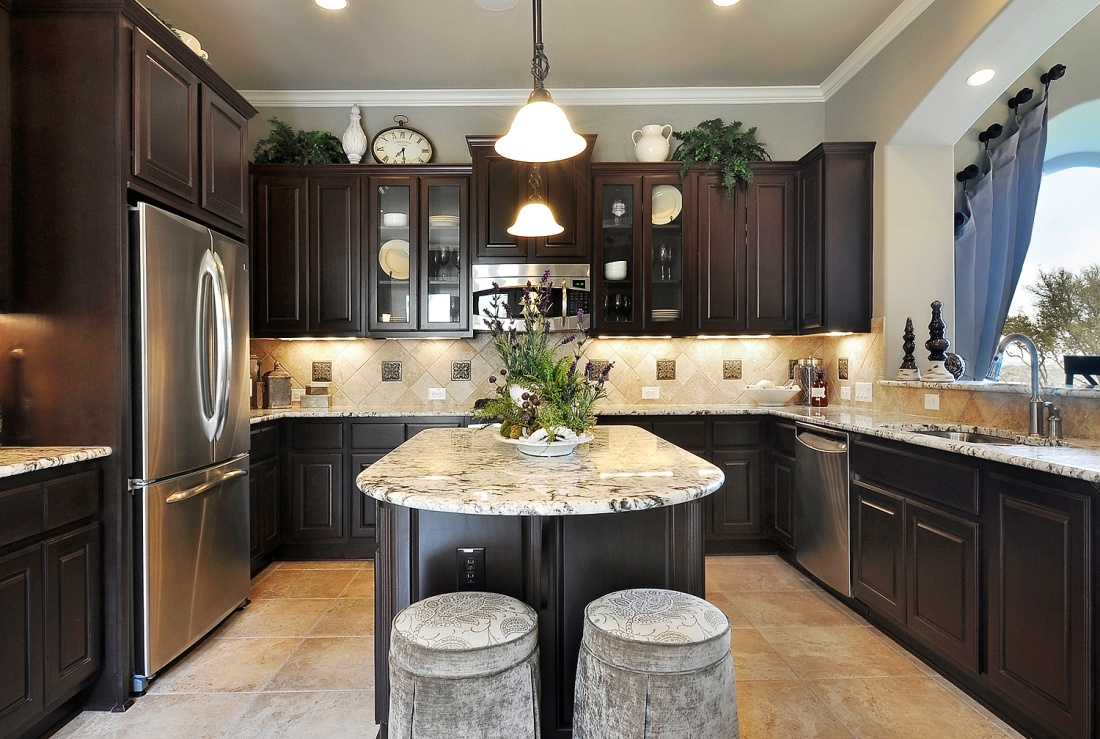 Dream Kitchen Dark Cabinets