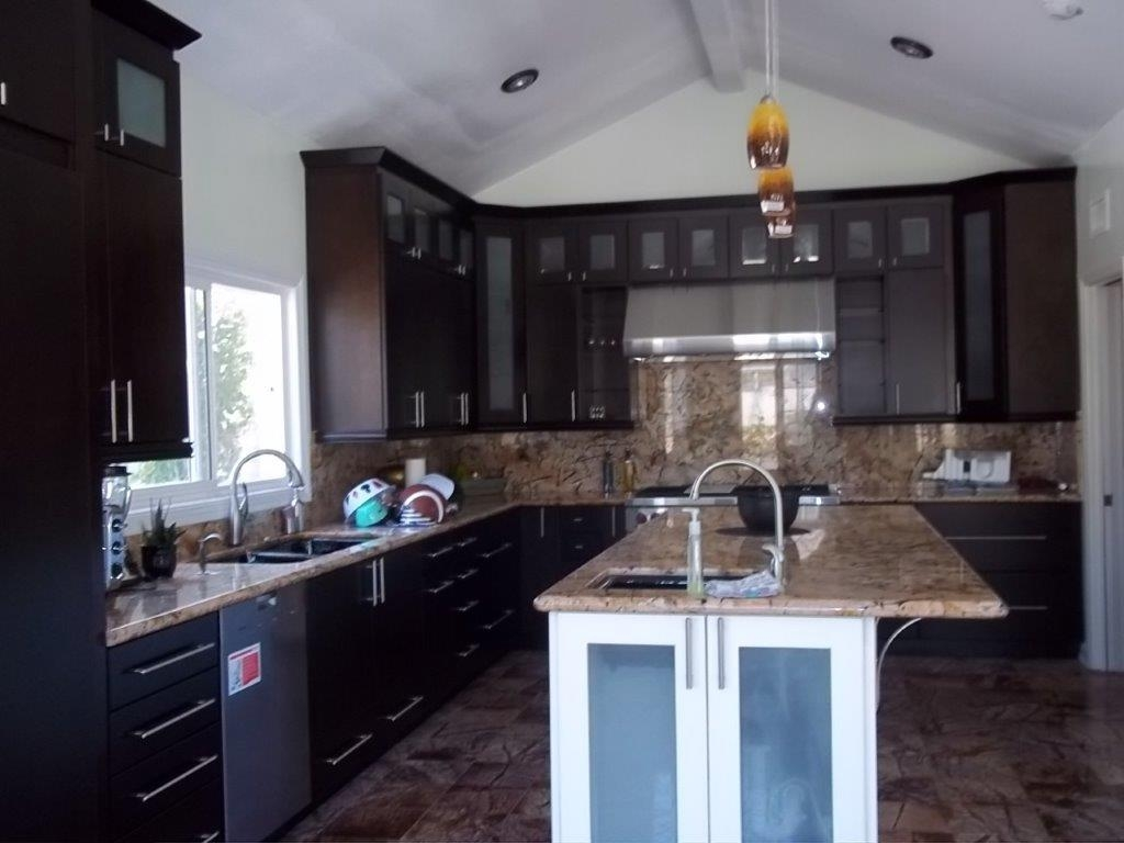 Espresso Kitchen Cabinets With Glass Doors