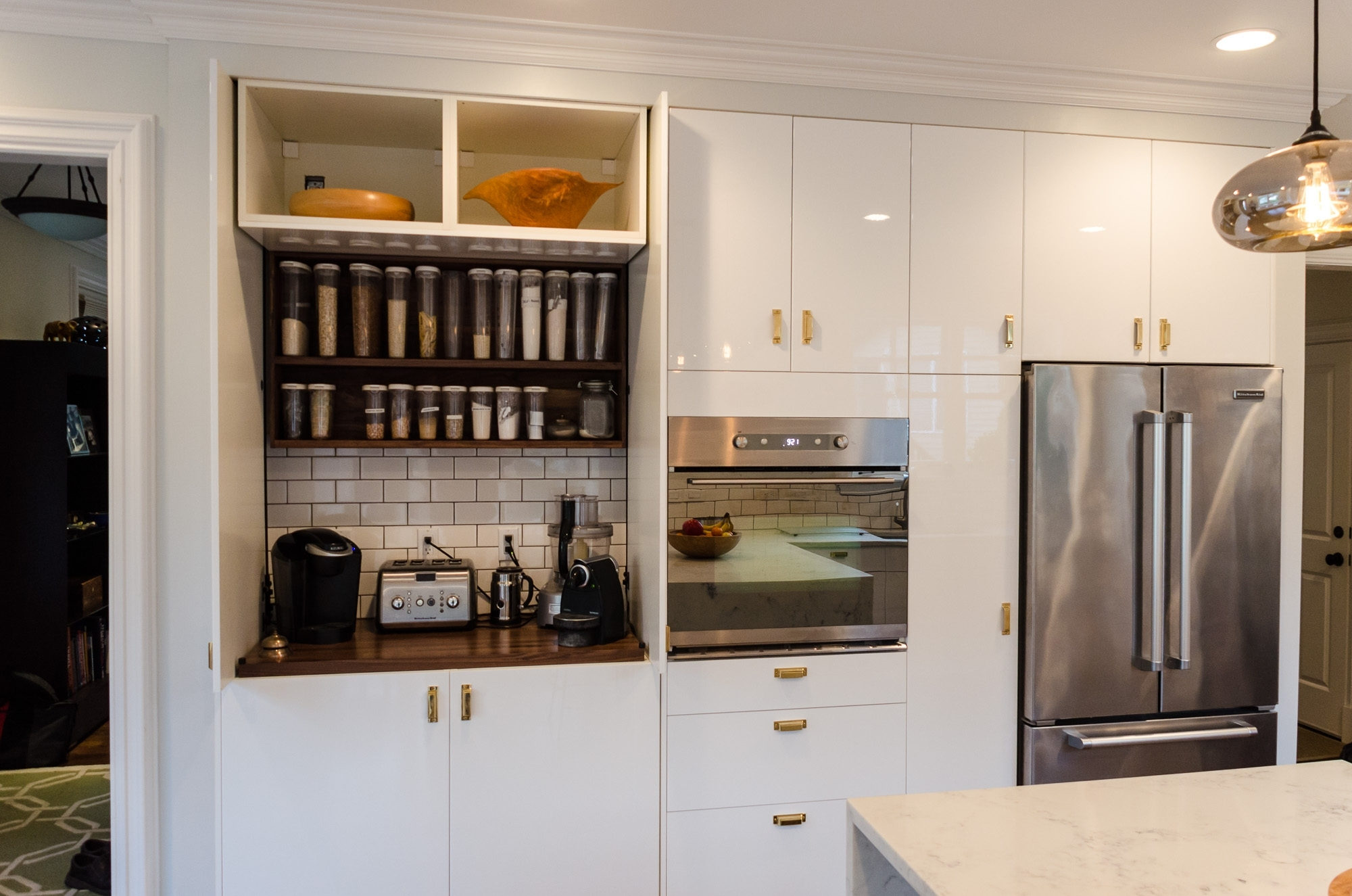 Garage Door Kitchen Cabinet
