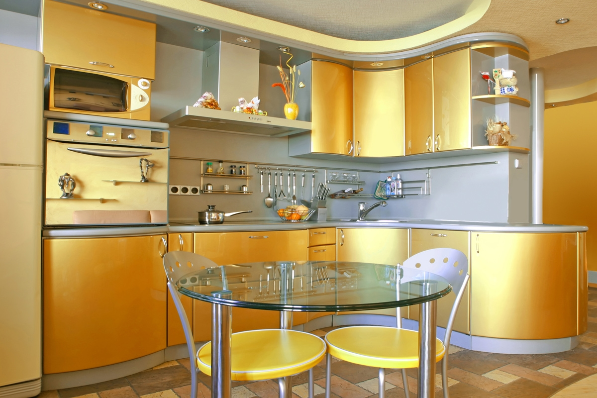 Gold Color Kitchen Cabinets