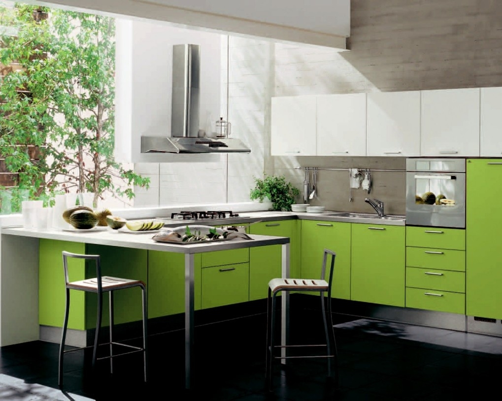 Green Kitchen Cabinets Pictures