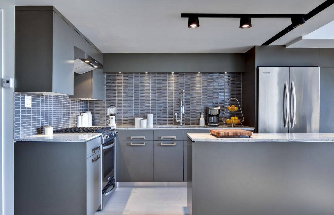 Grey Color Kitchen Cabinets