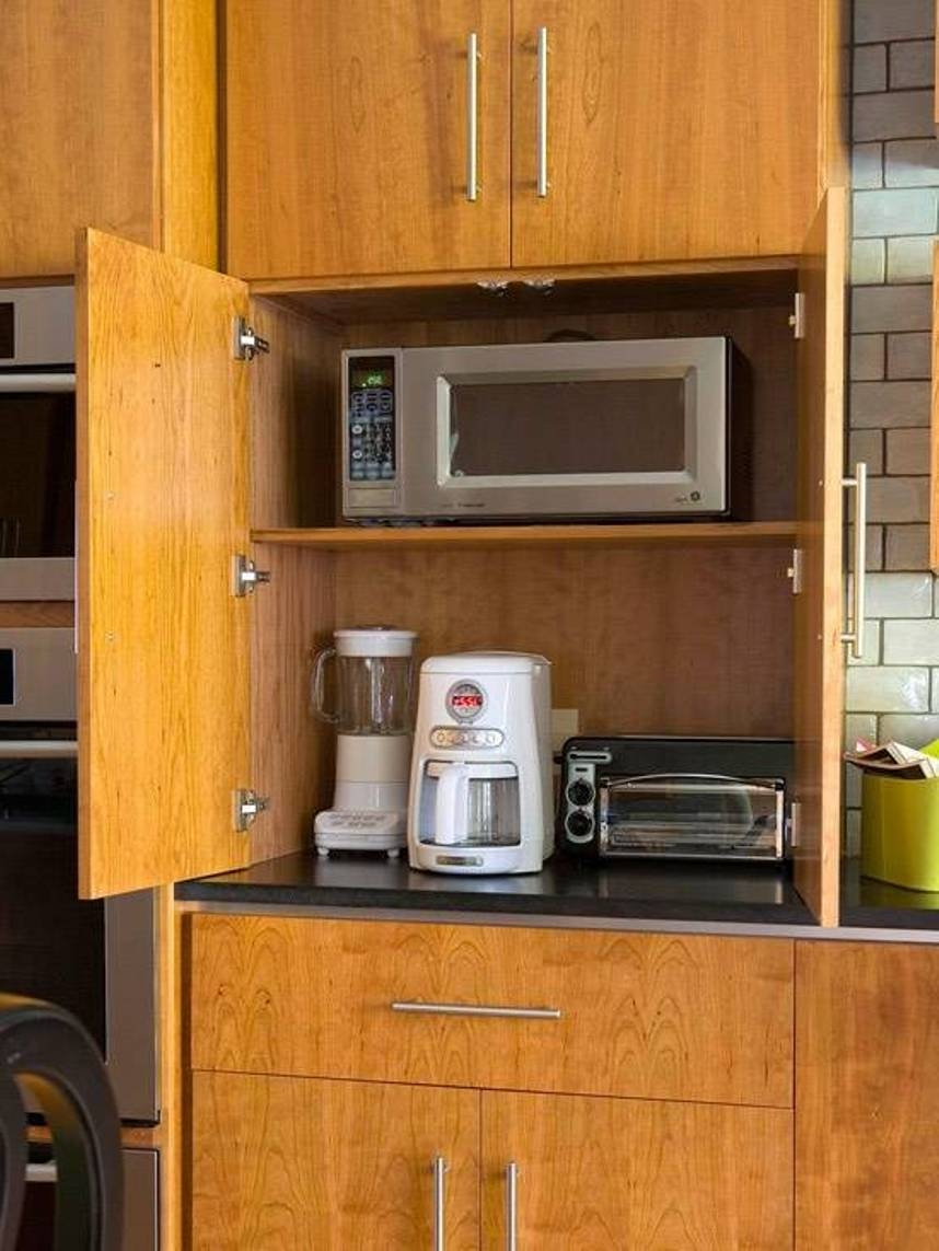 Kitchen Cabinet Appliance Storage
