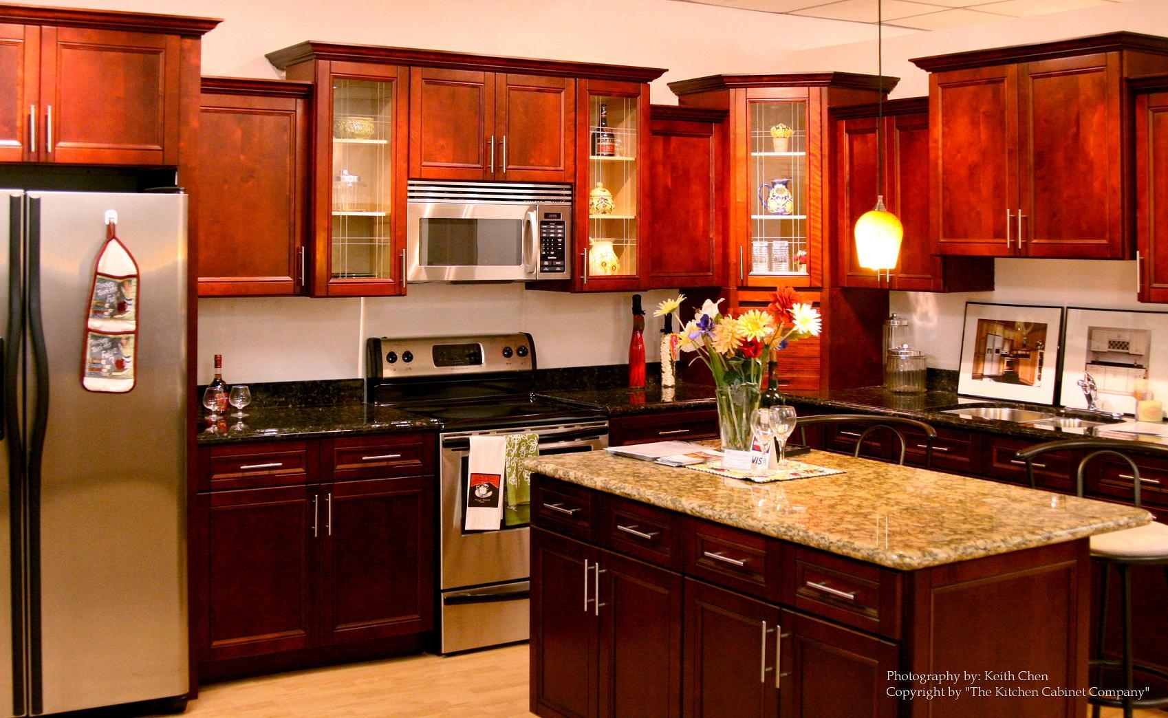 Kitchen Cabinets Cherry Red