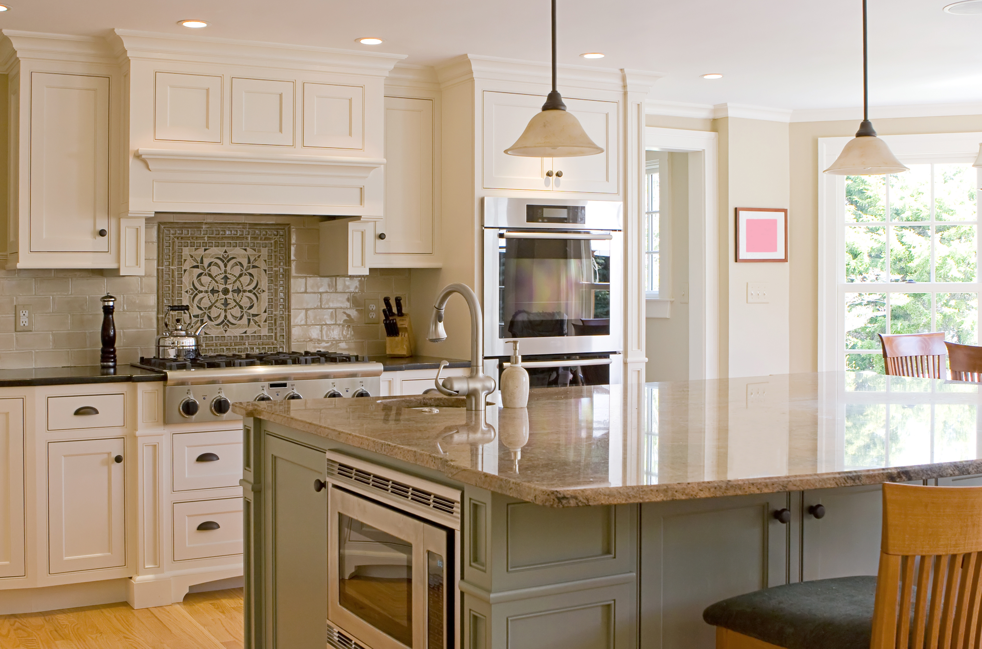 Kitchen Cabinets Island Different Color