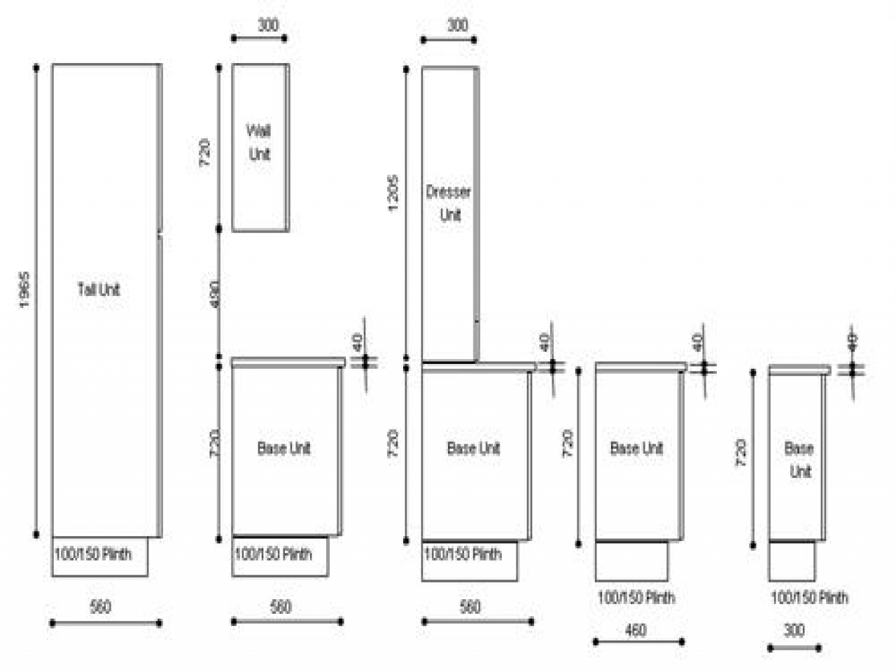 Kitchen Cabinets Sizes Height