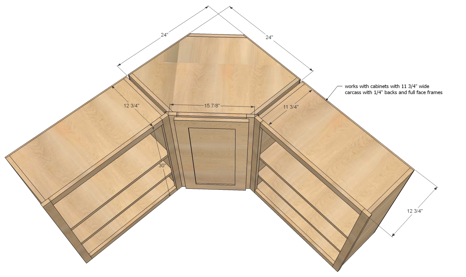 Kitchen Corner Cabinets Sizes