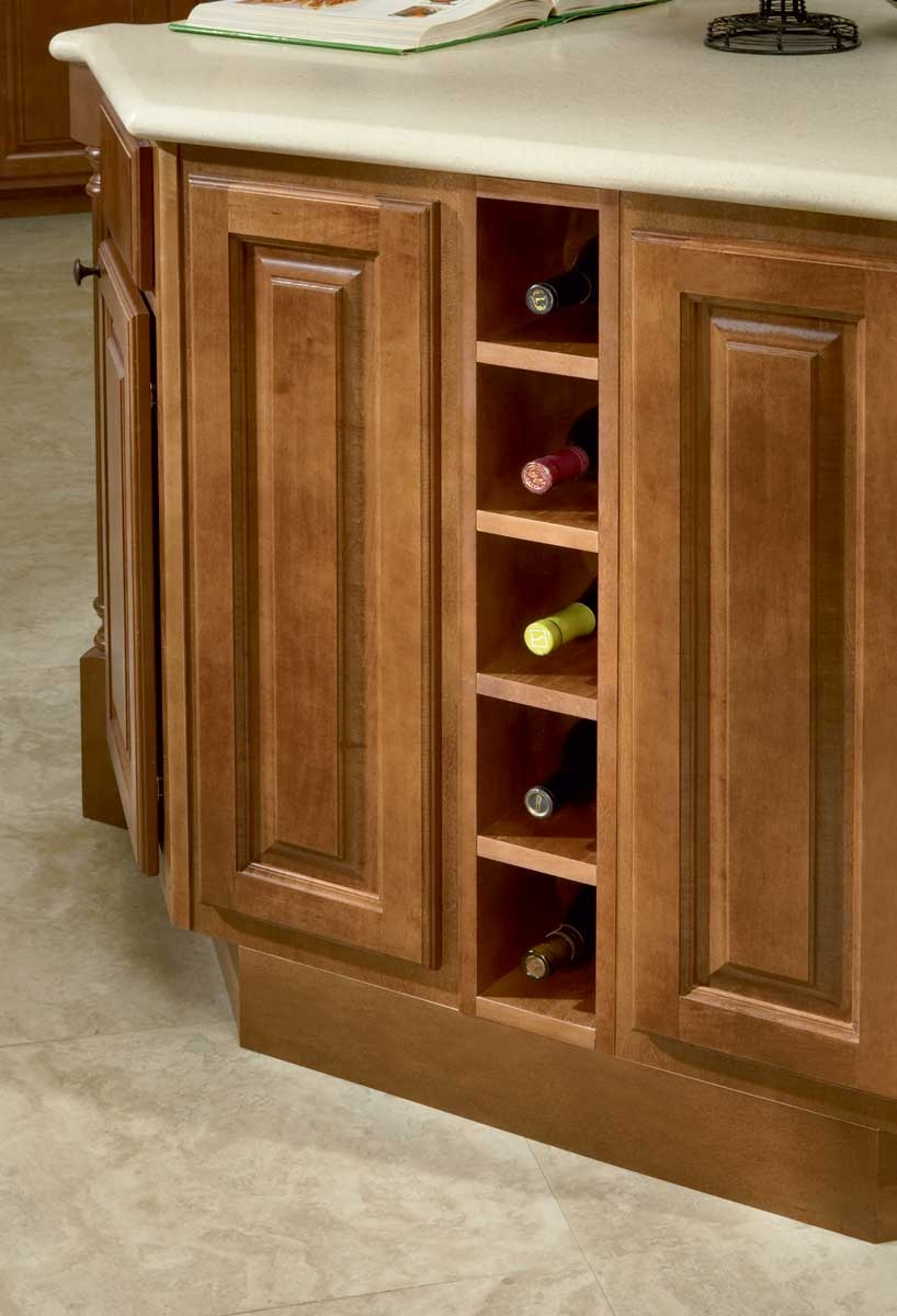 Kitchen Cupboard With Wine Rack