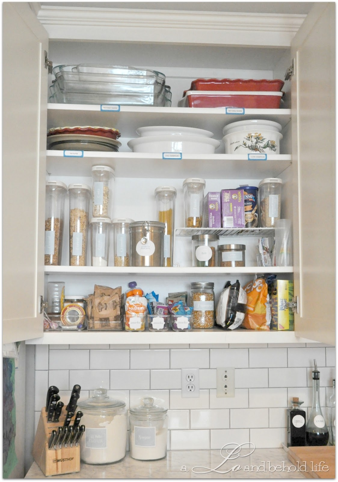 Kitchen Organization Cabinets