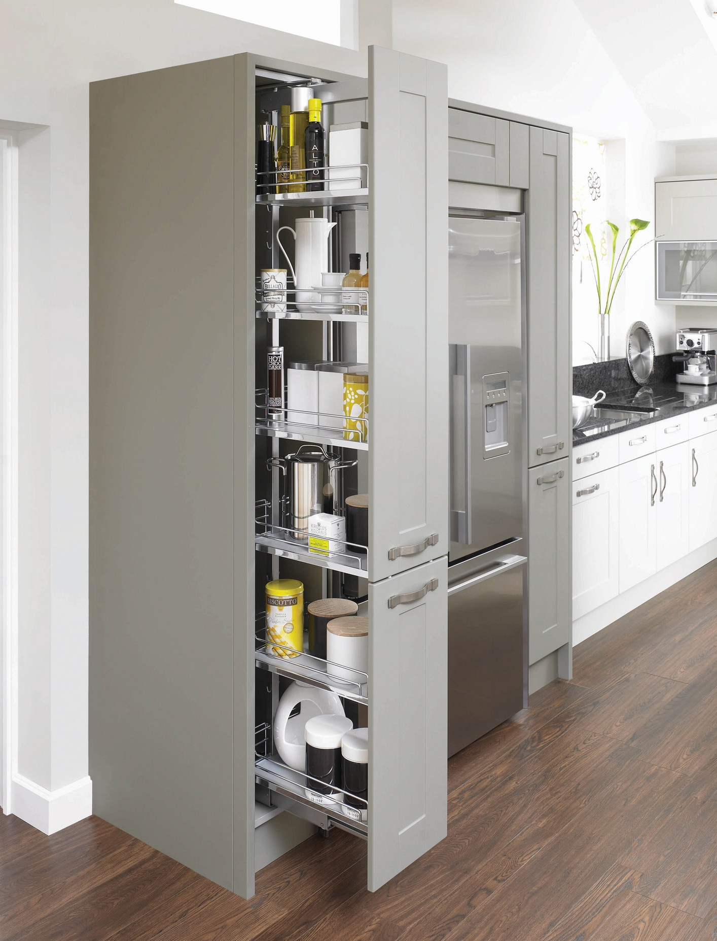 Kitchen Pull Out Larder Cupboards