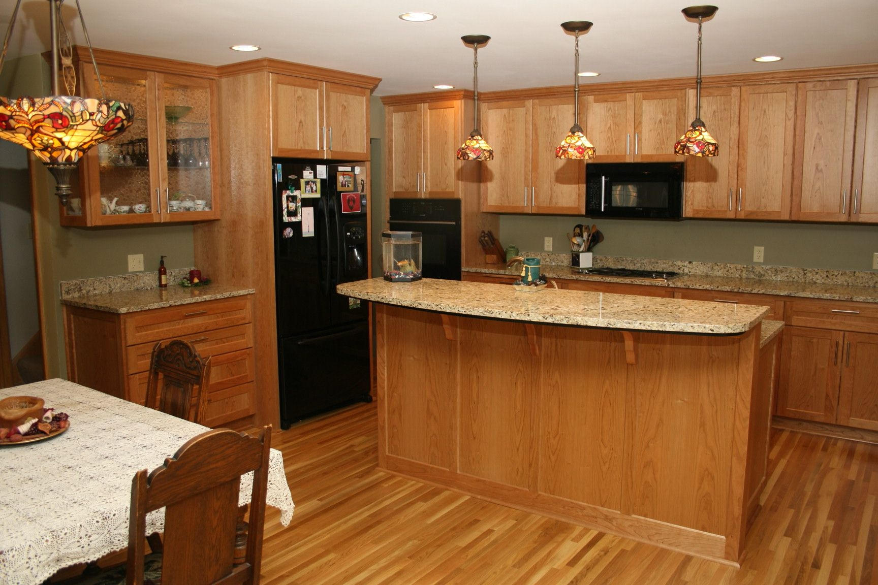 Kitchen Tile Floor Ideas With Light Wood Cabinets