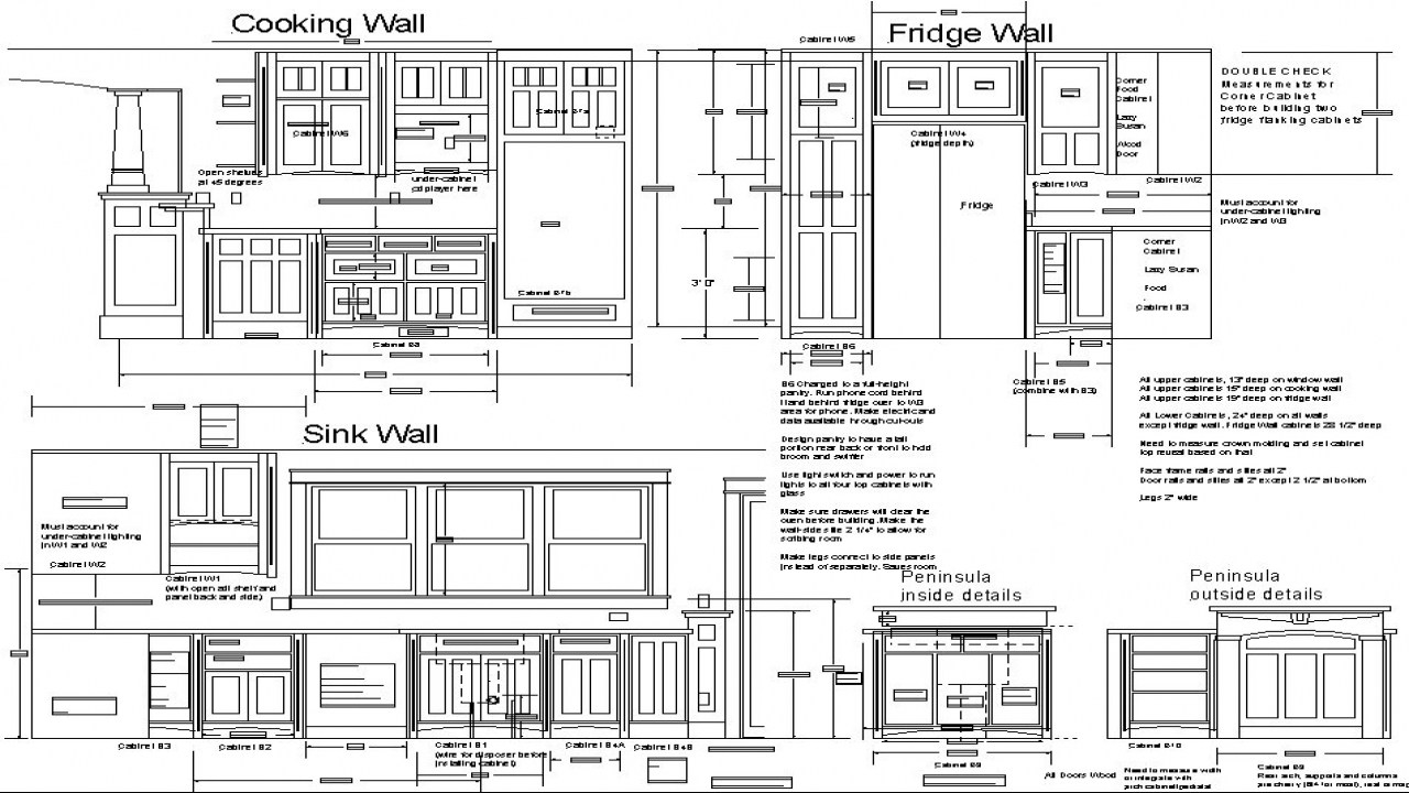 Plans Of Kitchen Cabinets1280 X 720
