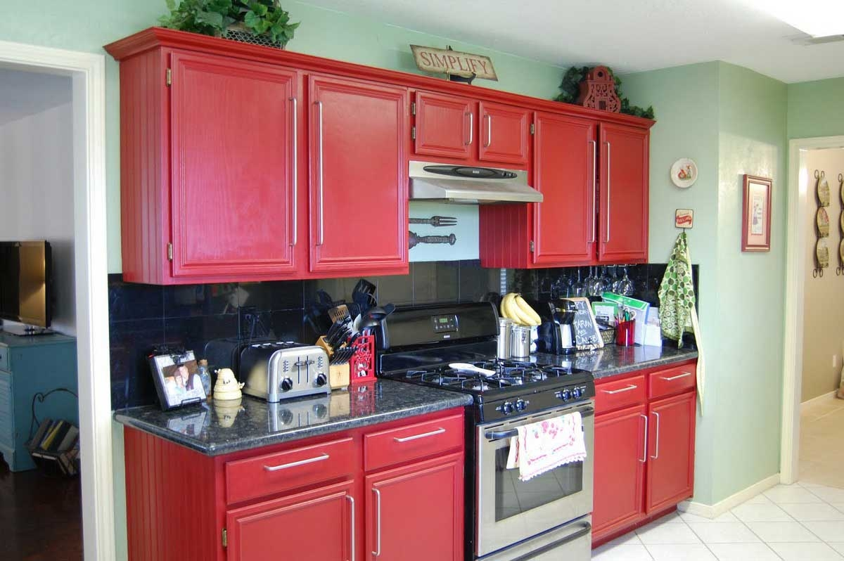 Red Kitchen Cabinet Colors