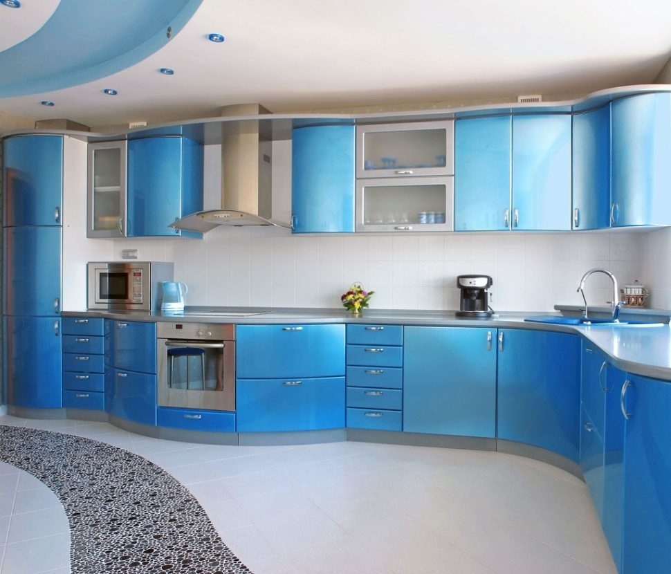 Royal Blue Kitchen Cabinets