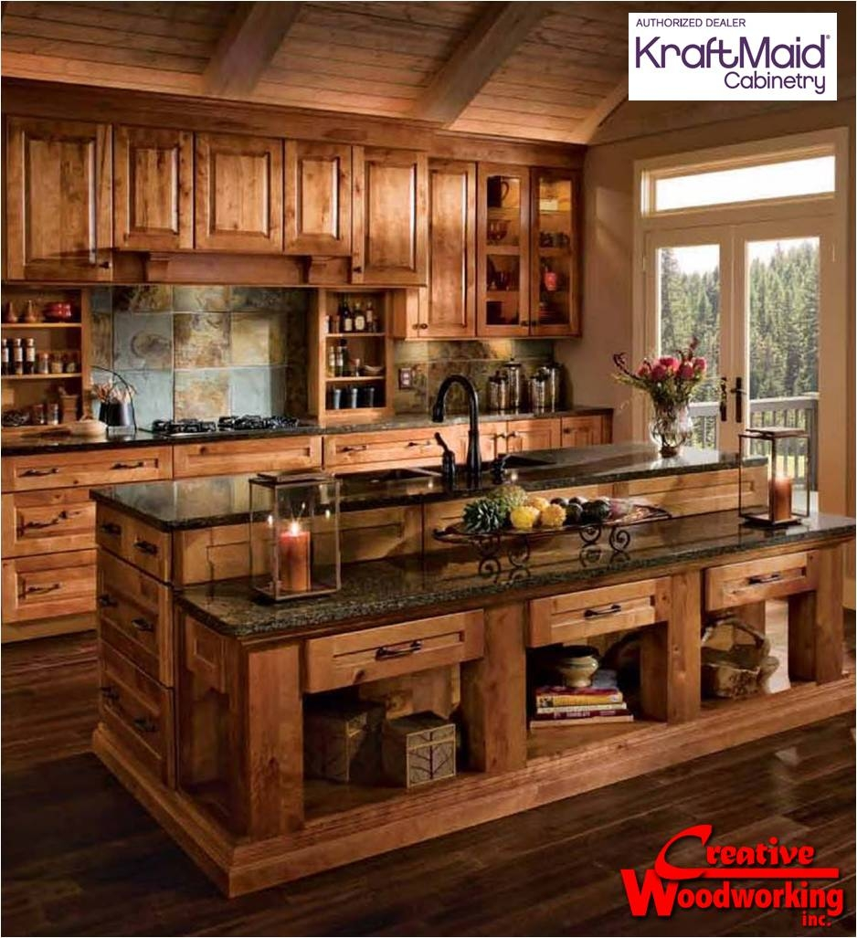 Rustic Look Kitchen Cabinets