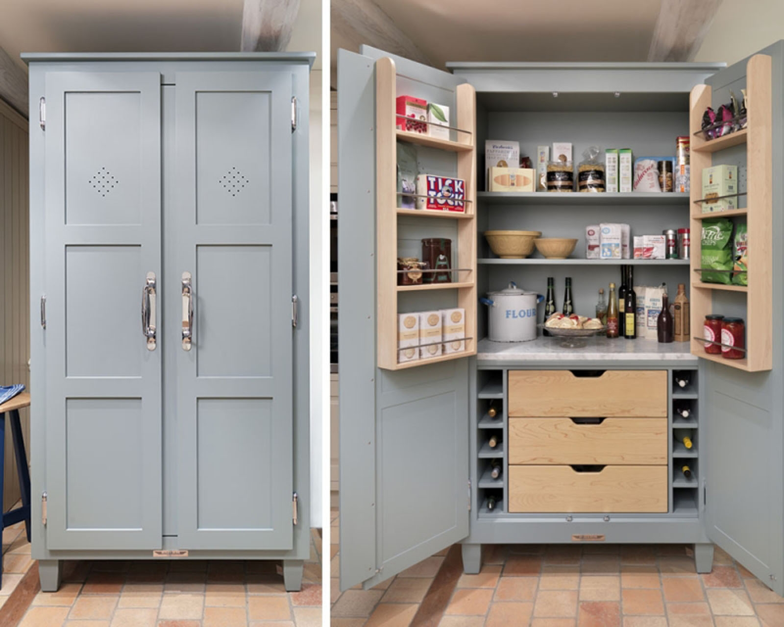 Small Kitchen Pantry Cabinet