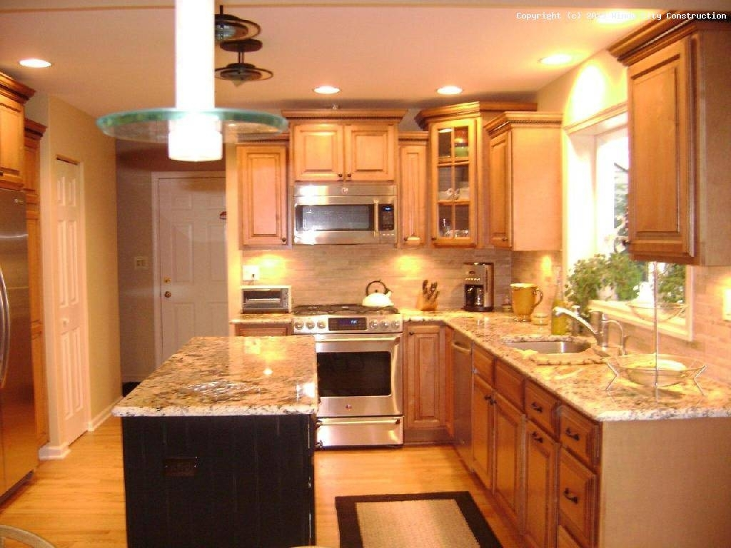 Triangle Shaped Kitchen Cabinets