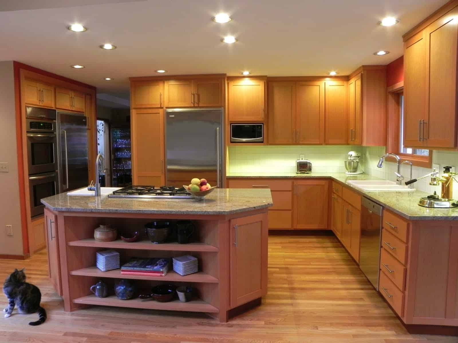 Tropical Wood Kitchen Cabinets