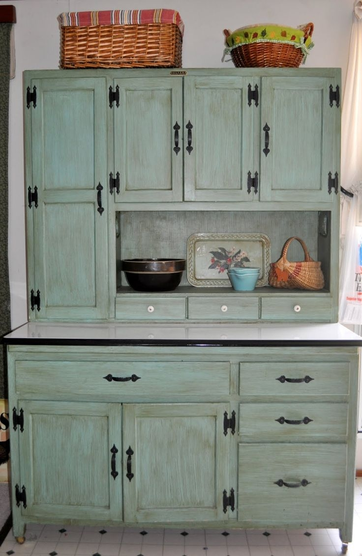 Vintage Kitchen Hutch Cabinet