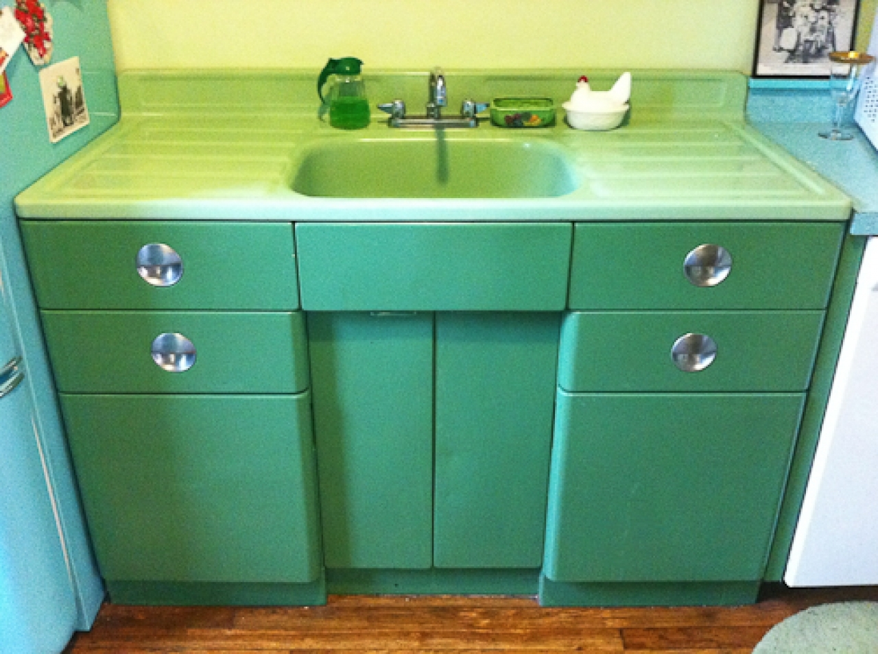 Vintage Metal Kitchen Cabinets With Sink