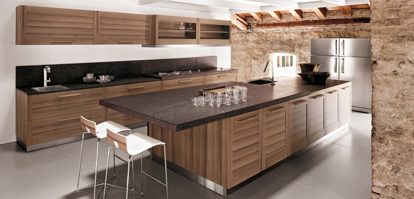 Walnut Kitchen Cabinets Modern1440 X 694