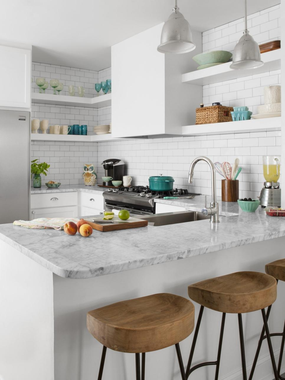 White Kitchen Cabinets For A Small Kitchen