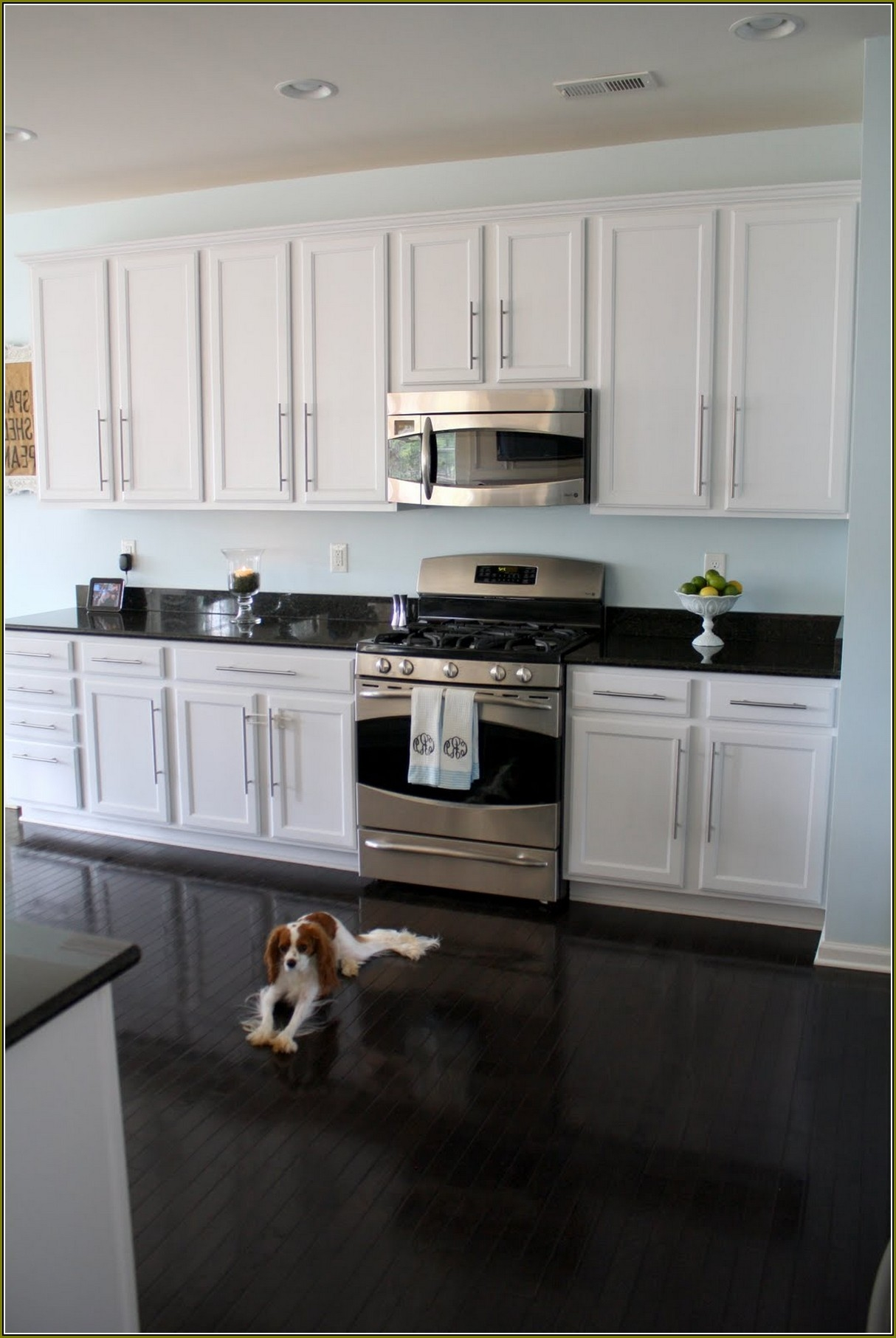 White Kitchen Cabinets With Silver Handles