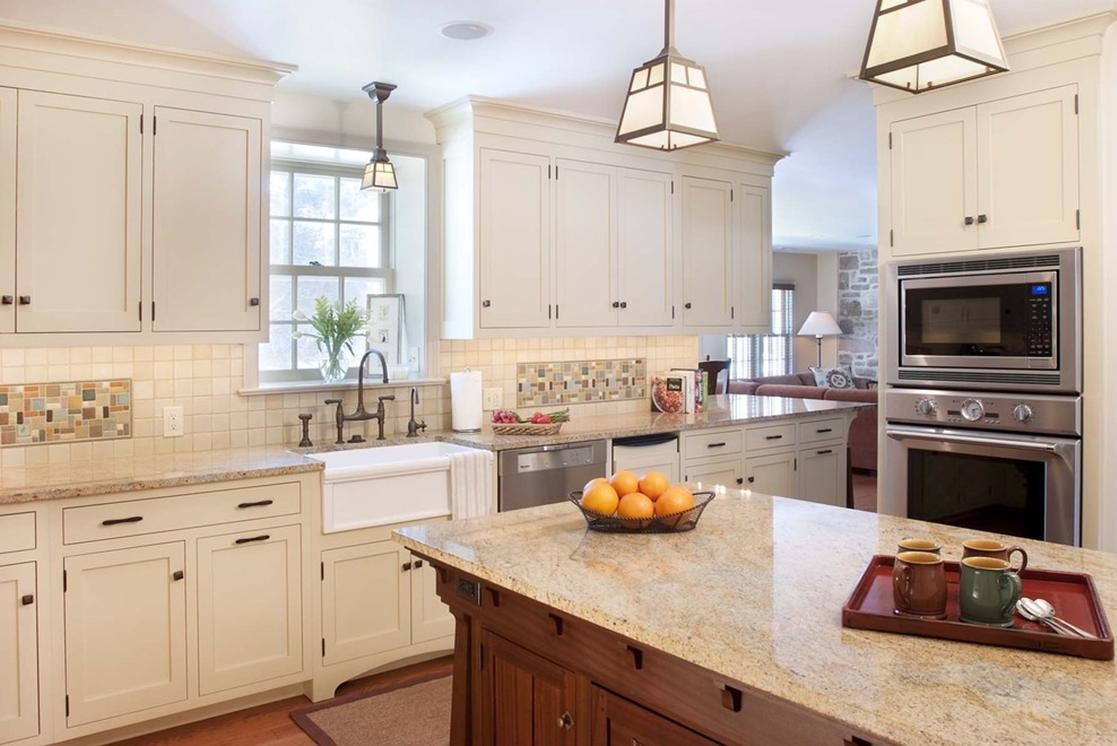 White Mission Kitchen Cabinets