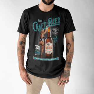 Camiseta RUST Craft Beer Black