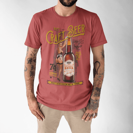 Camiseta RUST Craft Beer Red